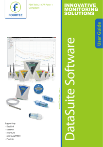 DataSuite User Guide Supporting Fourtec Data Loggers
