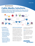 Nortel Networks Cable Media Solutions