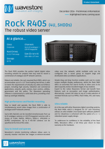 Rock R405 (4U, 5HDDs) The robust video server
