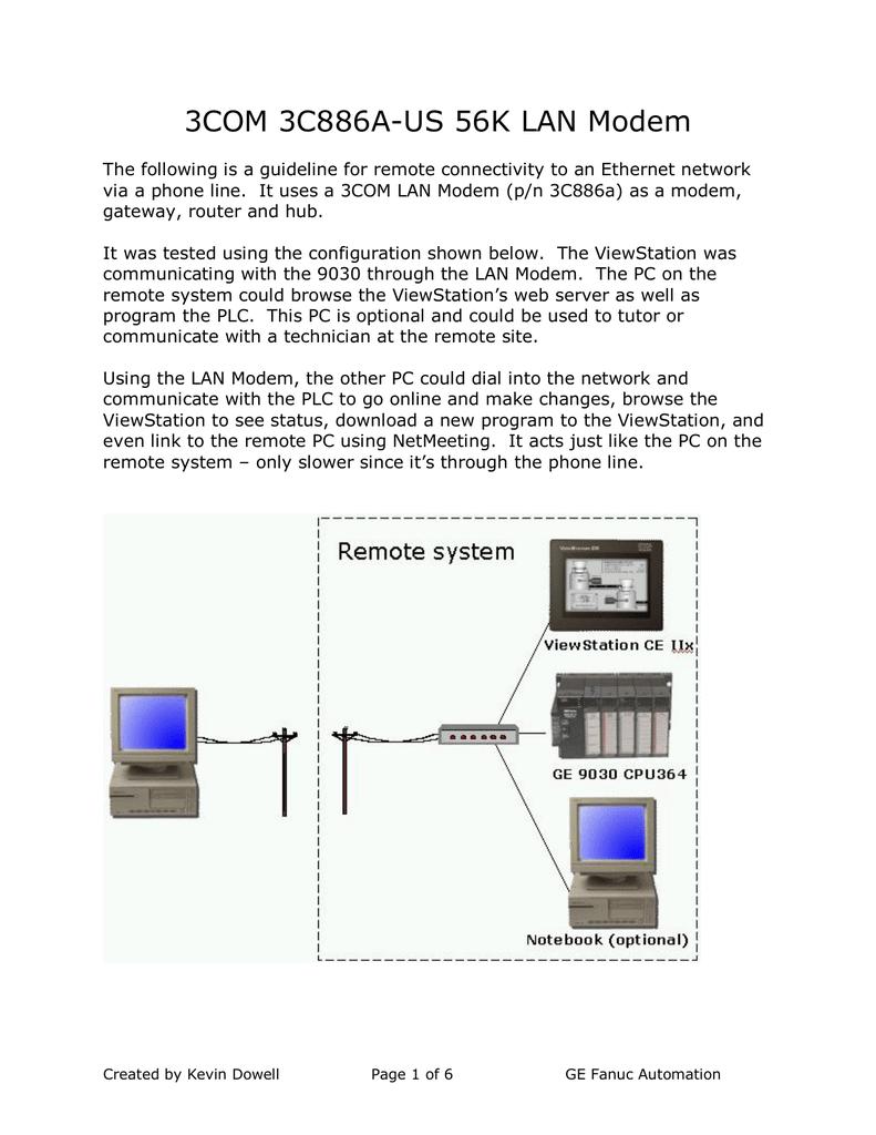 3Com CM Dial Up Protocol Driver PC