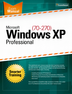Windows XP Professional (70-270) LearnSmart