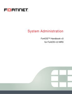 FortiGate System Administration Guide