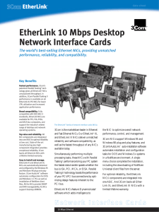 EtherLink 10 Mbps Desktop Network Interface Cards