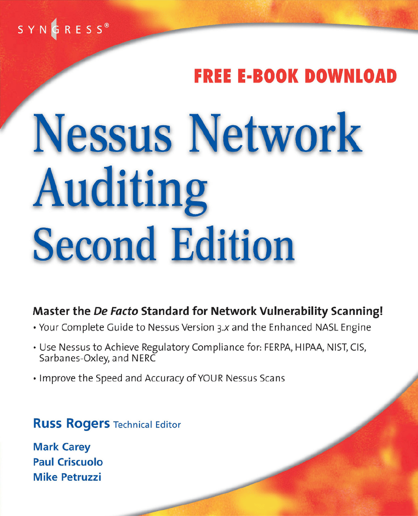 Nessus Network Auditing 2ed [AAVV] Syngress