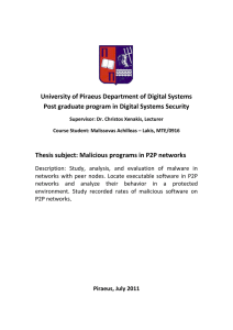University of Piraeus Department of Digital Systems Post graduate