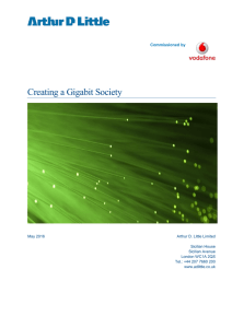 Creating a Gigabit Society