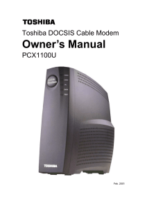 Toshiba PCX1100U User`s Guide