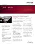 Brocade Dansk Kabel TV Success Story