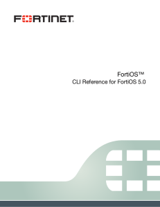CLI Reference for FortiOS 5.0