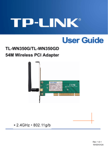 TL-WN350G_350GD User Guide - TP-Link