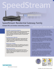 SpeedStream® Residential Gateway Family