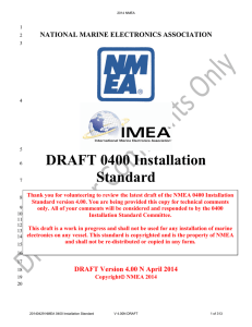 DRAFT 0400 Installation Standard