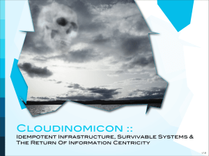 Cloudinomicon - Rational Survivability