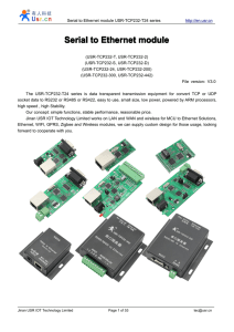 RS232 RS485 to ethernet convert module user guide USR