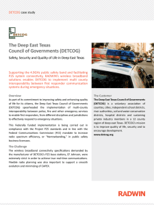 The Deep East Texas Council of Governments (DETCOG)