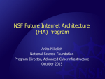 NSF Future Internet Architecture (FIA) Program