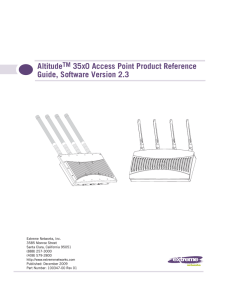 AltitudeTM 35x0 Access Point Product Reference Guide, Software