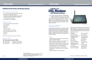 USB/Ethernet DSL Modem With Wireless Gateway