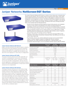 Juniper Networks NetScreen-5GT Series