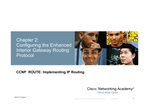Chapter 2: Configuring the Enhanced Interior Gateway Routing