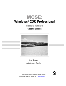 MCSE: Windows 2000 Professional Study Guide Second Edition