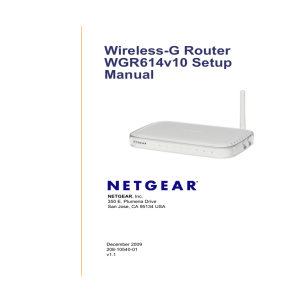Wireless-G Router WGR614v10 Setup Manual