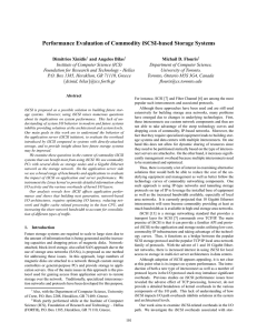 Performance Evaluation of Commodity iSCSI-based - ICS