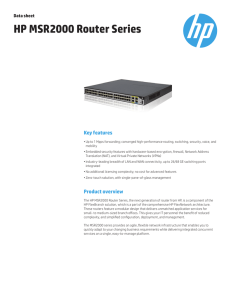 HP MSR2000 Router Series data sheet