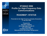 STANAG 5066 Update - HFIA, High Frequency Industry Association