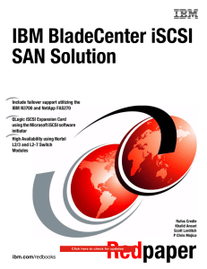 IBM BladeCenter iSCSI SAN Solution