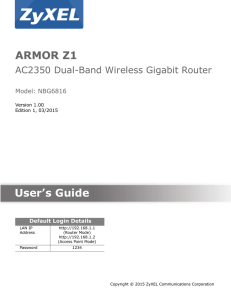 ARMOR Z1 User`s Guide
