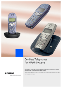 Cordless Telephones for HiPath Systems