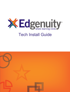 Tech Install Guide - Edgenuity Media Appliance