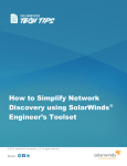 How to Simplify Network Discovery using SolarWinds® Engineer`s