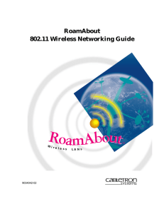RoamAbout 802.11 Wireless Networking Guide