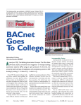 BACnet Goes To College