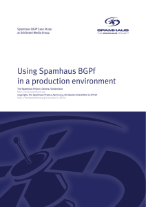 Using Spamhaus BGPf in a production environment