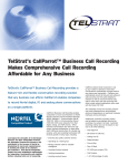 Nortel Compatible Product Brief for TelStrat`s CallParrot