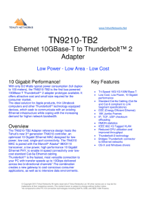 TN9210-TB2 - Tehuti Networks