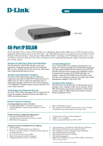 48-Port IP DSLAM - D-Link