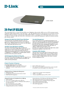 24-Port IP DSLAM - D-Link