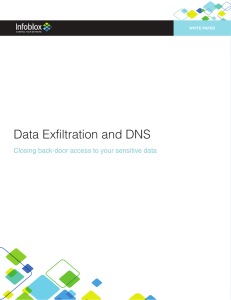 Data Exfiltration and DNS