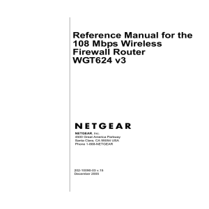 Reference Manual for the 108 Mbps Wireless Firewall