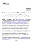 FairPoint Communications Releases White Paper on Advanced
