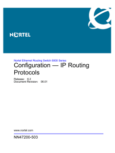 Configuration — IP Routing Protocols