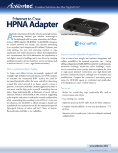 Ethernet over Coax HPNA Network Adapter Product