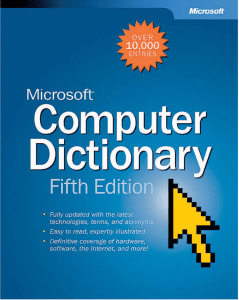 Microsoft Computer Dictionary, Fifth Edition eBook