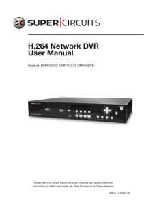 H . 264 Network DVR User Manual - SuperCircuits