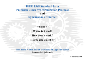 IEEE 1588, Standard for a Precision Clock Synchronization