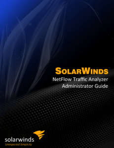 SolarWinds NetFlow Traffic Analyzer Administrator Guide